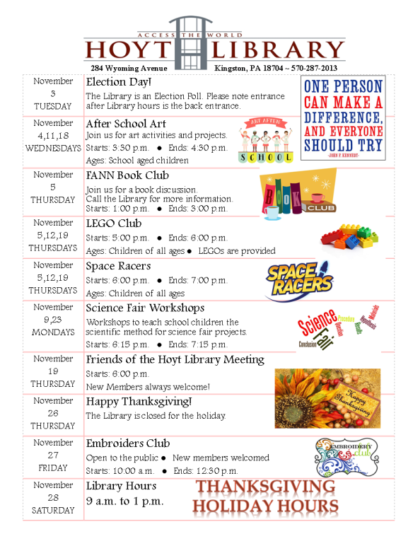 Upcoming Events November 2015 (1)