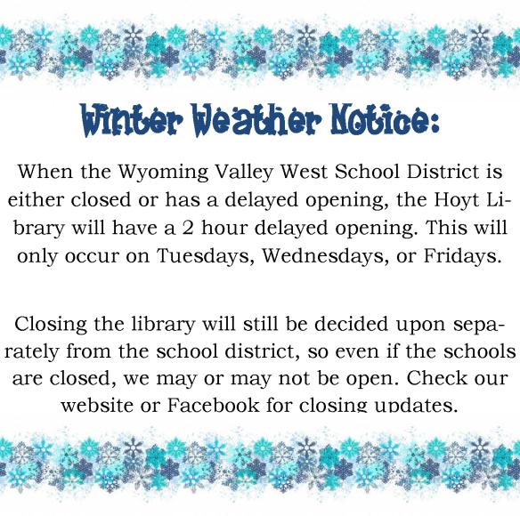 winter weather notice