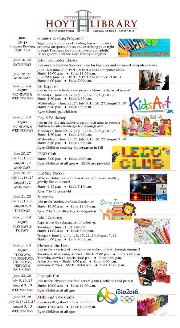 Upcoming Events Summer 2016 Big Page 1 FINAL